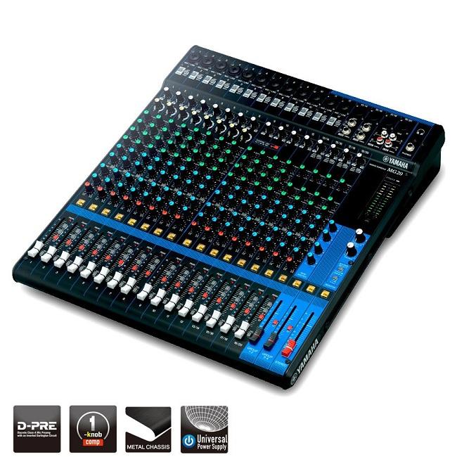Bàn trộn âm thanh 20 kênh Yamaha MG20