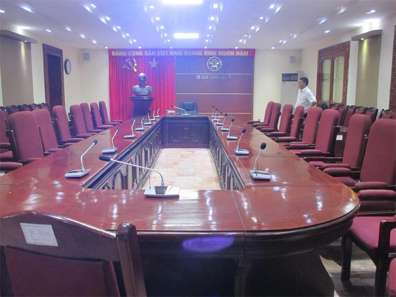 Hải Hưng lắp đặt hệ thống hội thảo không dây HaiAudio tại GTVT Hà Nội