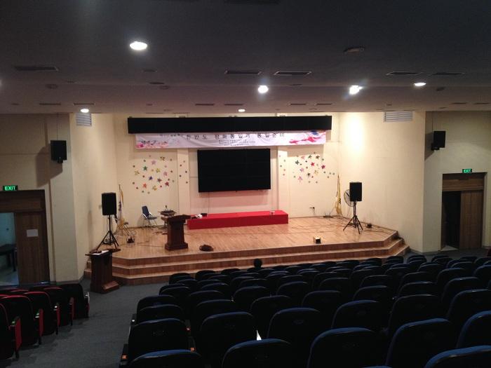 Hải Hưng lắp đặt hệ thống âm thanh hội trường tại trường Hàn Quốc