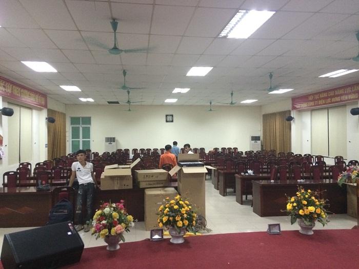 Hệ thống âm thanh hội trường biểu diễn tại EVN Hưng Yên