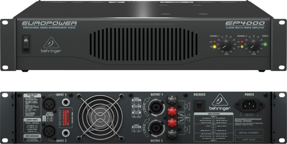 Amply công suất Behringer EP4000-EU