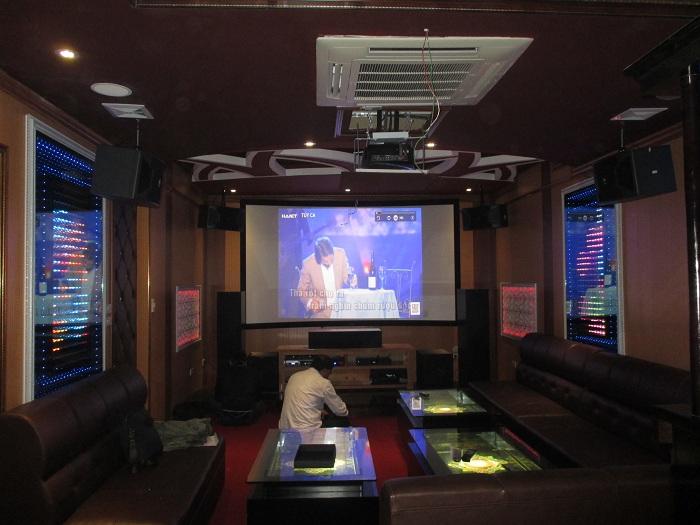 Hải Hưng lắp đặt phòng chiếu phim kết hợp karaoke tại khu biệt thự Pháp Vân