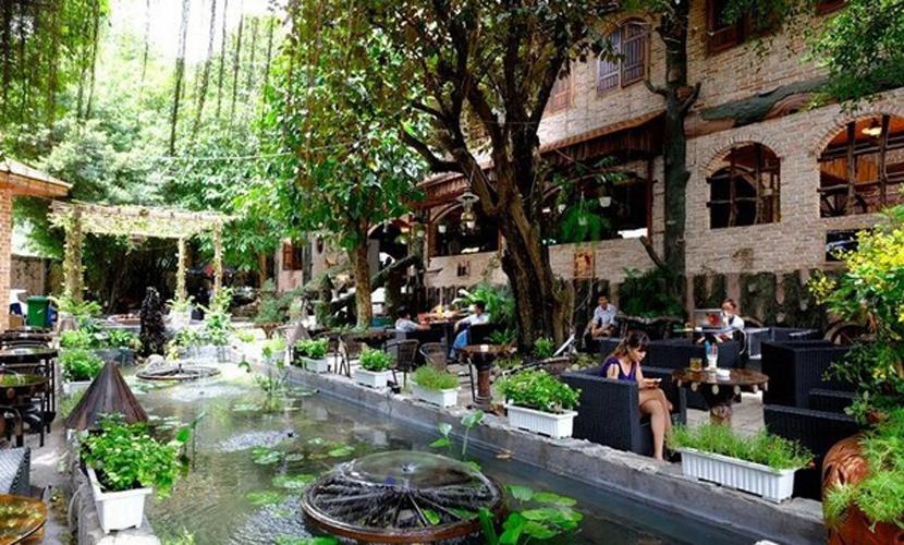 Tư vấn thiết kế và lắp đặt âm thanh sân vườn cho quán Cafe
